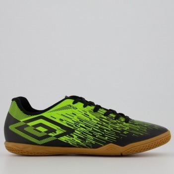 Chuteira Umbro Acid II Futsal Preta e Amarela