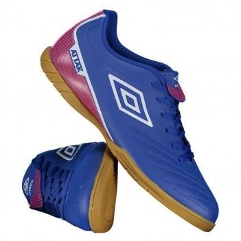Chuteira Umbro Attak II Futsal Azul e Branca