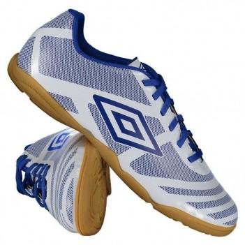 Chuteira Umbro Carbon Futsal Branca e Azul