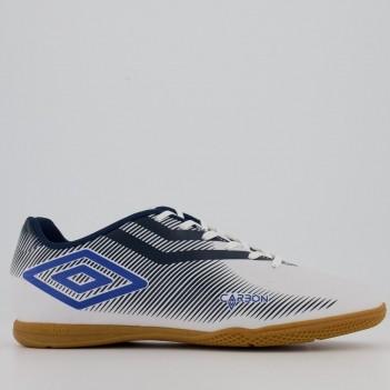 Chuteira Umbro Carbon II Futsal Branca e Marinho