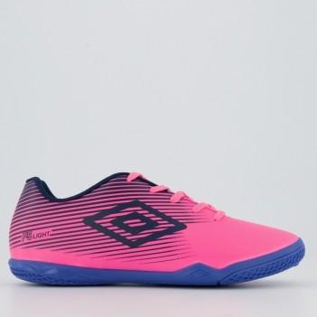 Chuteira Umbro F5 Light Futsal Juvenil Rosa