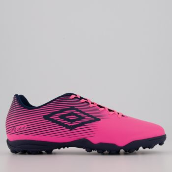 Chuteira Umbro F5 Light Society Rosa e Marinho