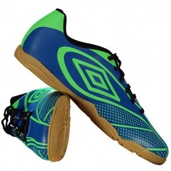 Chuteira Umbro Fury Futsal Azul e Verde