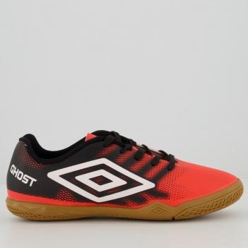Chuteira Umbro Ghost Futsal Juvenil Coral