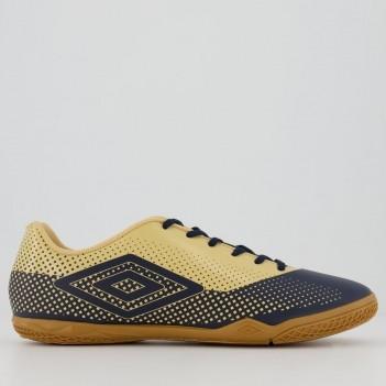 Chuteira Umbro Icon Futsal Marinho e Dourado