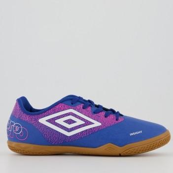 Chuteira Umbro Insight Futsal Juvenil Azul