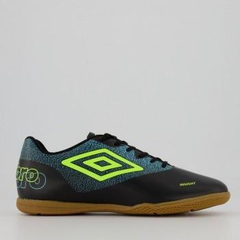 Chuteira Umbro Insight Futsal Preta e Azul