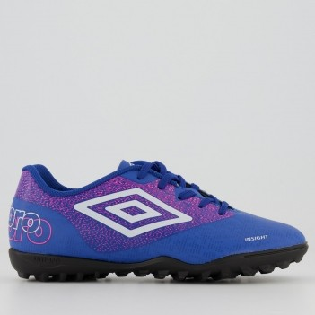 Chuteira Umbro Insight Society Juvenil Azul
