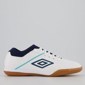 Chuteira Umbro Medusae III Club Futsal Branca e Marinho
