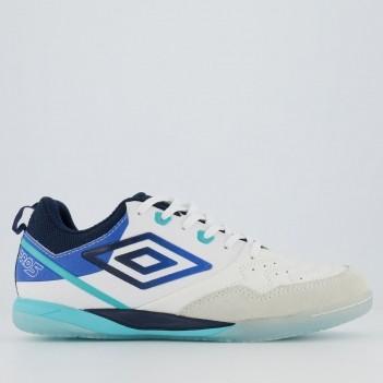 Chuteira Umbro Pro V Futsal Branca e Azul