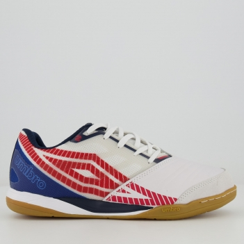 Chuteira Umbro Sala Z Futsal Branca e Vermelha