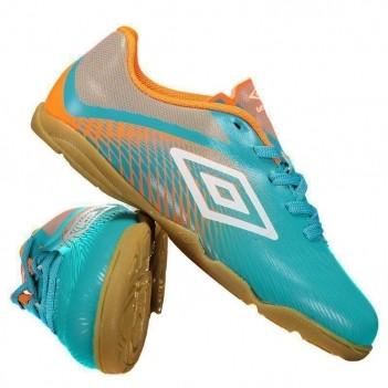 Chuteira Umbro Snake Futsal Juvenil Azul