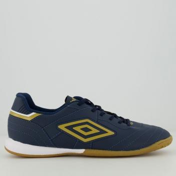 Chuteira Umbro Speciali III League Futsal Marinho e Dourado