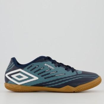 Chuteira Umbro Speed IV Futsal Juvenil Marinho e Branca