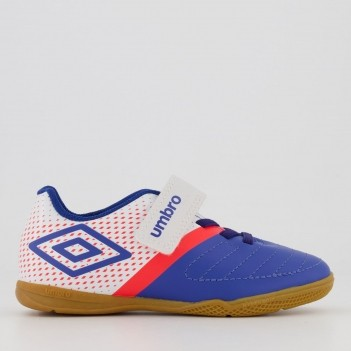 Chuteira Umbro Spirity Futsal Juvenil Azul