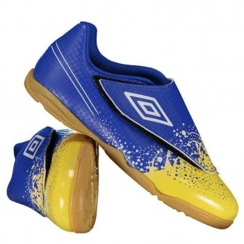Chuteira Umbro Wave Futsal Infantil Royal