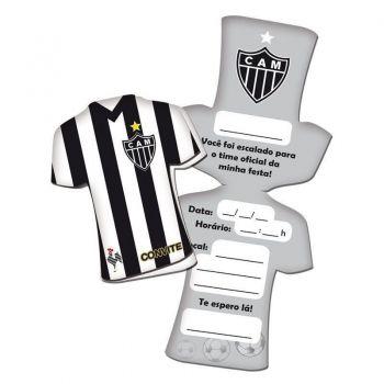 Convite Atlético Mineiro 8 Unidades