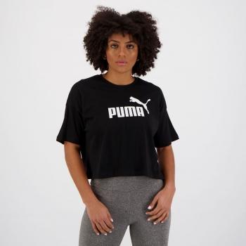 Cropped Puma Ess Logo Feminino Preto
