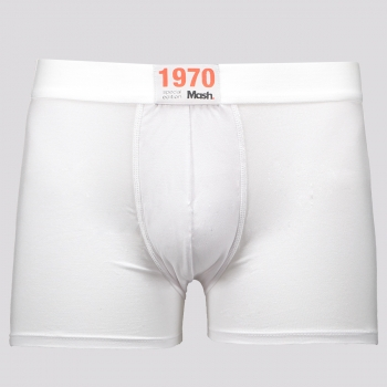 Cueca Boxer Mash 1970 Branca