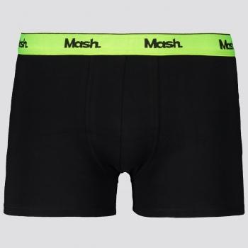 Cueca Boxer Mash Neon Ribbon Preta e Verde