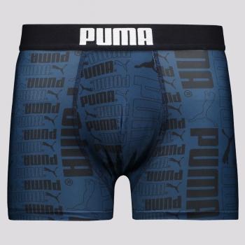 Cueca Boxer Puma Reinforced Print Azul