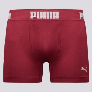 Cueca Boxer Puma Seamless IV Bordô