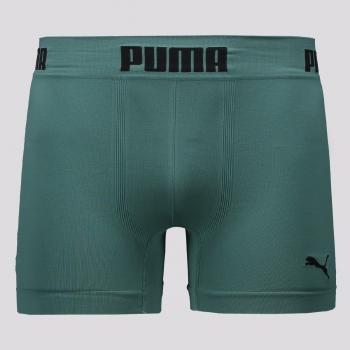 Cueca Boxer Puma Sem Costura Verde