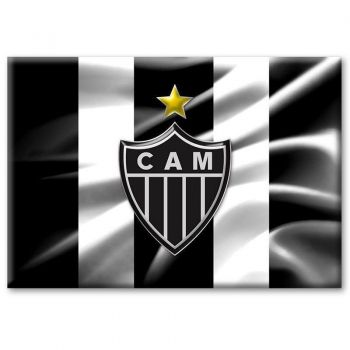Imã Atlético Mineiro Bandeira Ondulada