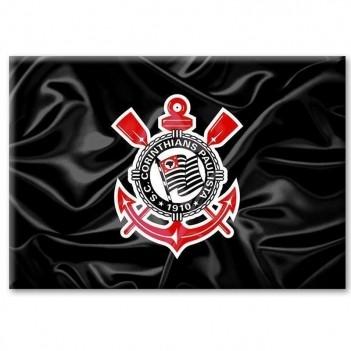 Imã Corinthians Bandeira Escudo Ondulada
