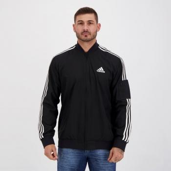 Jaqueta Adidas 3 Stripes Bomber Preta