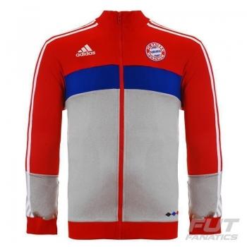 Jaqueta Adidas Bayern Hino 2016 Vermelha e Branca