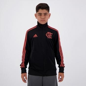 Jaqueta Adidas Flamengo 3S Juvenil Preta