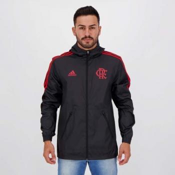Jaqueta Adidas Flamengo Corta Vento Preta