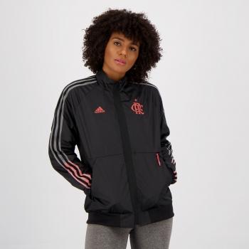Jaqueta Adidas Flamengo Hino Feminina Preta