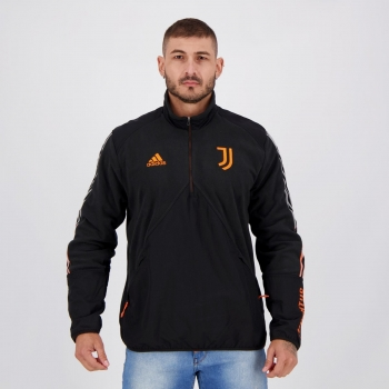 Jaqueta Adidas Juventus Viagem Preta