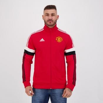 Jaqueta Adidas Manchester United 3 Stripes Vermelha