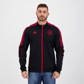 Jaqueta Adidas Manchester United Hino Preta