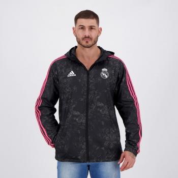 Jaqueta Adidas Real Madrid Corta Vento Preta