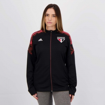 Jaqueta Adidas São Paulo Treino Feminina Preta