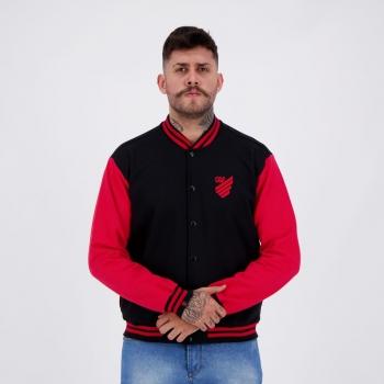 Jaqueta Athletico Paranaense Sport Preta e Vermelha