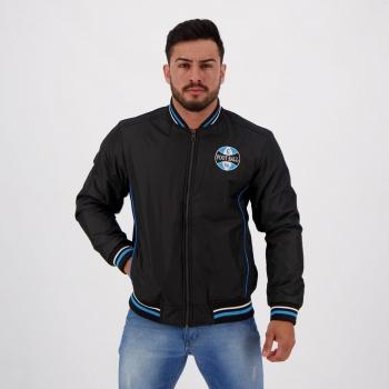 Jaqueta Grêmio Bomber Preta e Azul