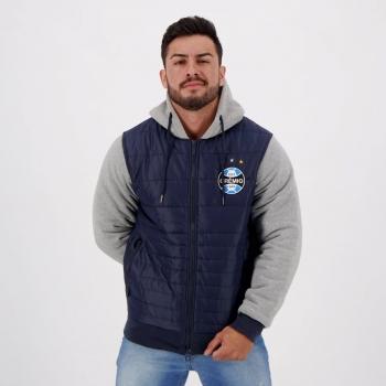 Jaqueta Grêmio Padding Hood Marinho
