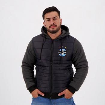 Jaqueta Grêmio Padding Hood Preta