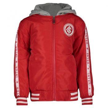 Jaqueta Internacional Escudo Infantil Vermelha e C
