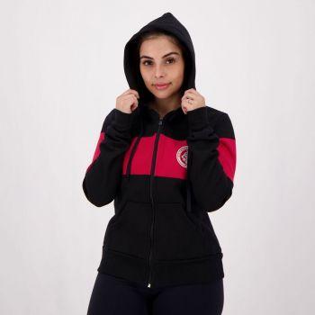 Jaqueta Internacional Dianna Feminina Preta e Vermelha