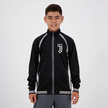 Jaqueta Juventus Trilobal Juvenil Preta