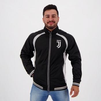 Jaqueta Juventus Trilobal Preta e Cinza