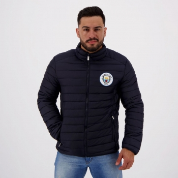 Jaqueta Manchester City Padding Azul Marinho