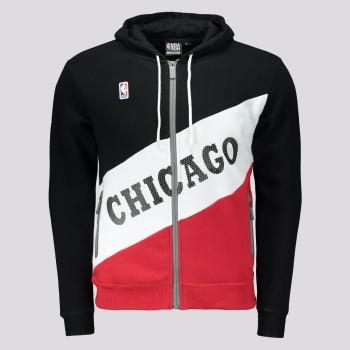 Jaqueta NBA Chicago Bulls Basic Juvenil Preta