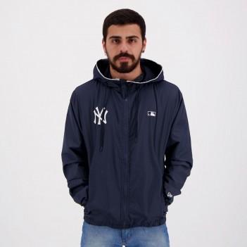 Jaqueta New Era Corta Vento MLB New York Yankees Marinho